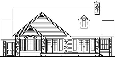 Rear Elevation Plan: 5-330