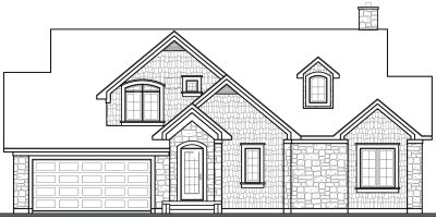 Rear Elevation Plan: 5-331