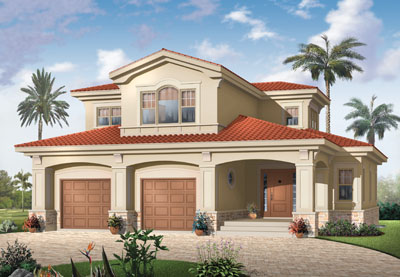 Florida Style House Plans 5-332
