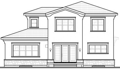 Rear Elevation Plan: 5-332