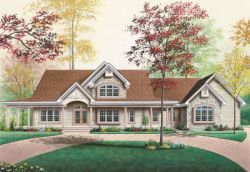 Country Style Floor Plans Plan: 5-333