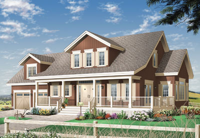 Country Style House Plans Plan: 5-334