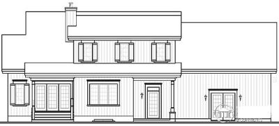 Rear Elevation Plan: 5-334