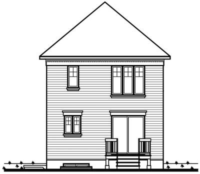 Rear Elevation Plan: 5-336