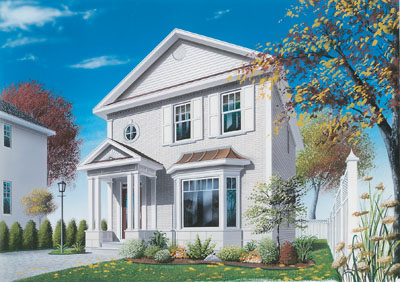 European Style Home Design Plan: 5-337