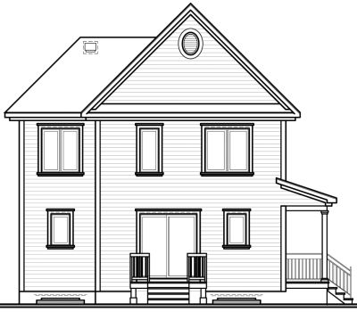 Rear Elevation Plan: 5-338