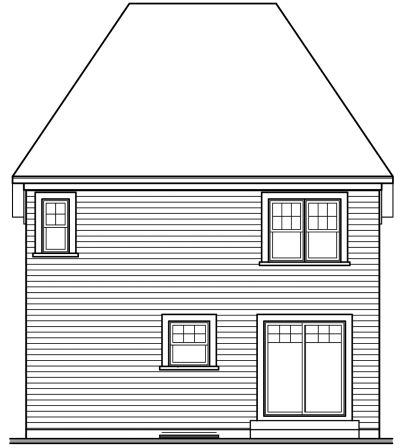 Rear Elevation Plan: 5-339