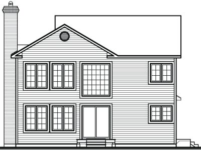 Rear Elevation Plan: 5-341