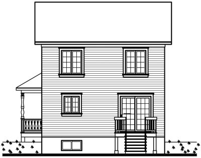 Rear Elevation Plan: 5-342