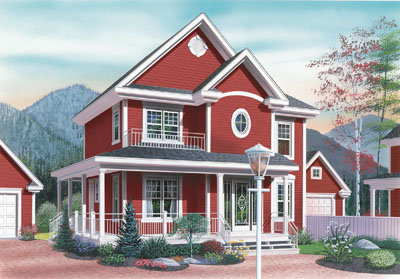 Country Style House Plans Plan: 5-343