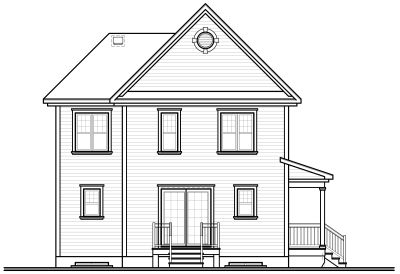 Rear Elevation Plan: 5-343
