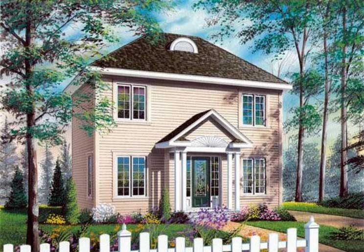 Early-american Style House Plans 5-344