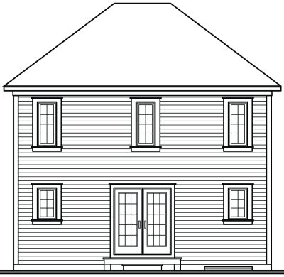 Rear Elevation Plan: 5-344
