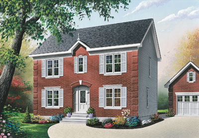 Colonial Style House Plans Plan: 5-345