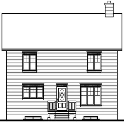 Rear Elevation Plan: 5-345
