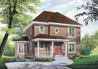 Traditional Style Home Design Plan: 5-346