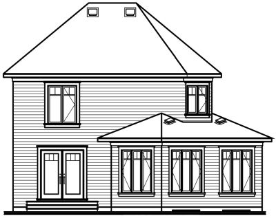 Rear Elevations Plan:5-346