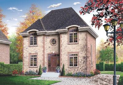 European Style Home Design Plan: 5-347