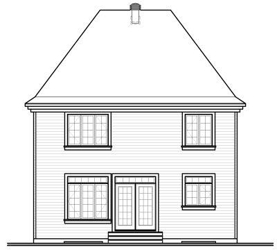 Rear Elevation Plan: 5-347