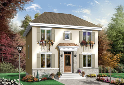 European Style House Plans Plan: 5-348