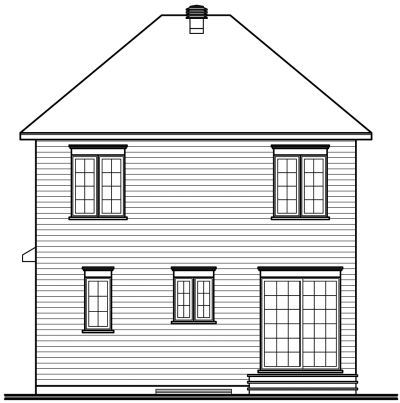 Rear Elevation Plan: 5-350