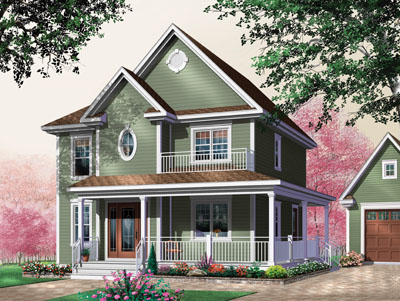 Country Style House Plans Plan: 5-351