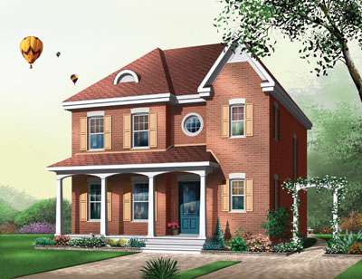 European Style House Plans Plan: 5-352