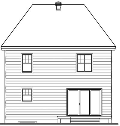Rear Elevation Plan: 5-352