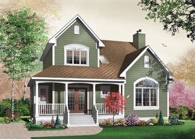 Country Style Home Design Plan: 5-354