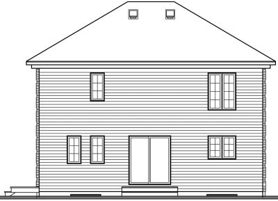 Rear Elevation Plan: 5-355