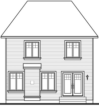 Rear Elevation Plan: 5-356