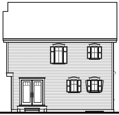 Rear Elevation Plan: 5-358