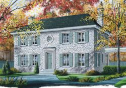 Colonial Style Home Design Plan: 5-359