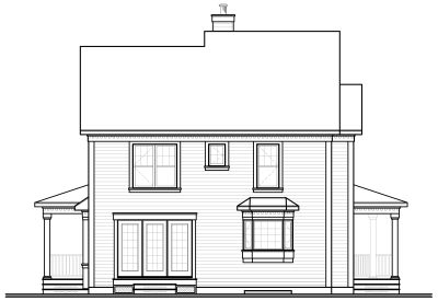 Rear Elevation Plan: 5-360