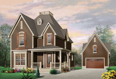 Farm Style Home Design Plan: 5-361