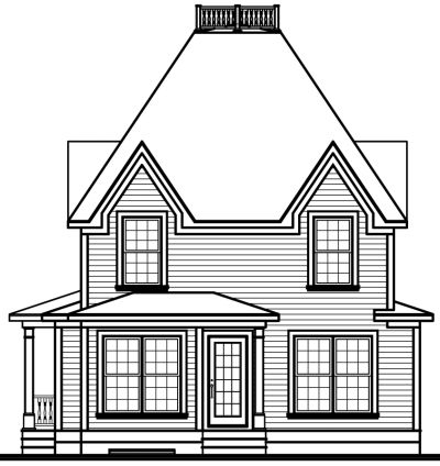 Rear Elevation Plan: 5-361