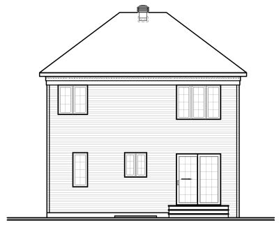 Rear Elevation Plan: 5-362