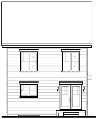 Rear Elevation Plan: 5-366
