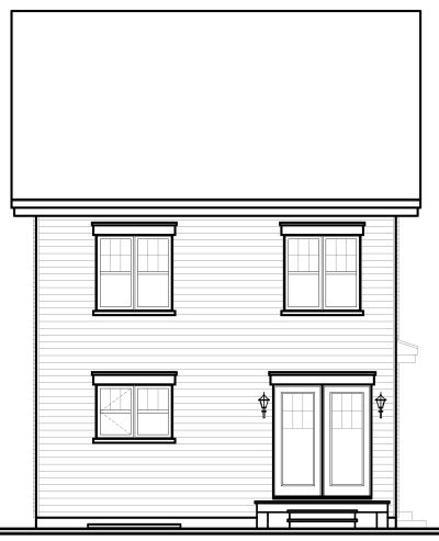 Rear Elevation Plan: 5-367