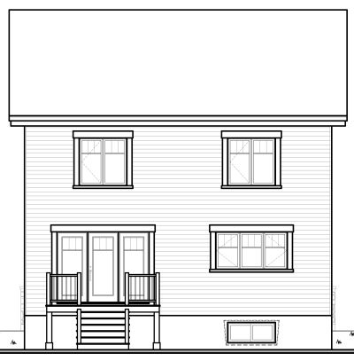 Rear Elevation Plan: 5-368