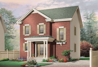 Traditional Style Home Design Plan: 5-369