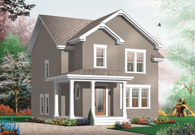 Traditional Style Home Design Plan: 5-370