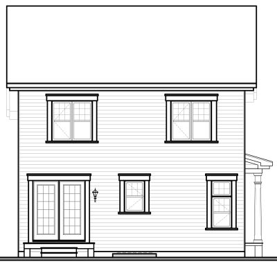 Rear Elevation Plan: 5-370