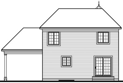 Rear Elevation Plan: 5-371