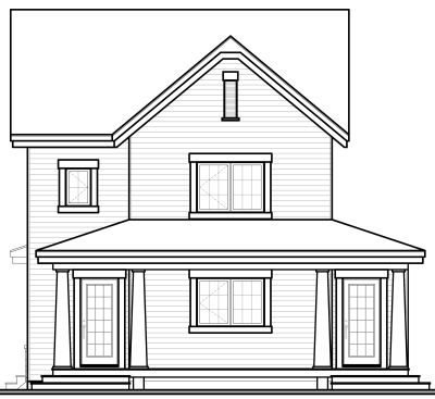 Rear Elevation Plan: 5-372