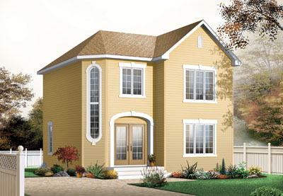 Traditional Style Home Design Plan: 5-373