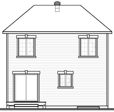 Rear Elevation Plan: 5-373