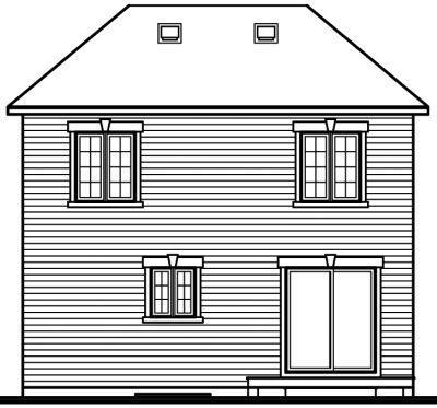 Rear Elevation Plan: 5-374
