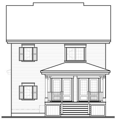Rear Elevation Plan: 5-375