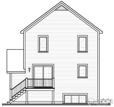 Rear Elevation Plan: 5-376